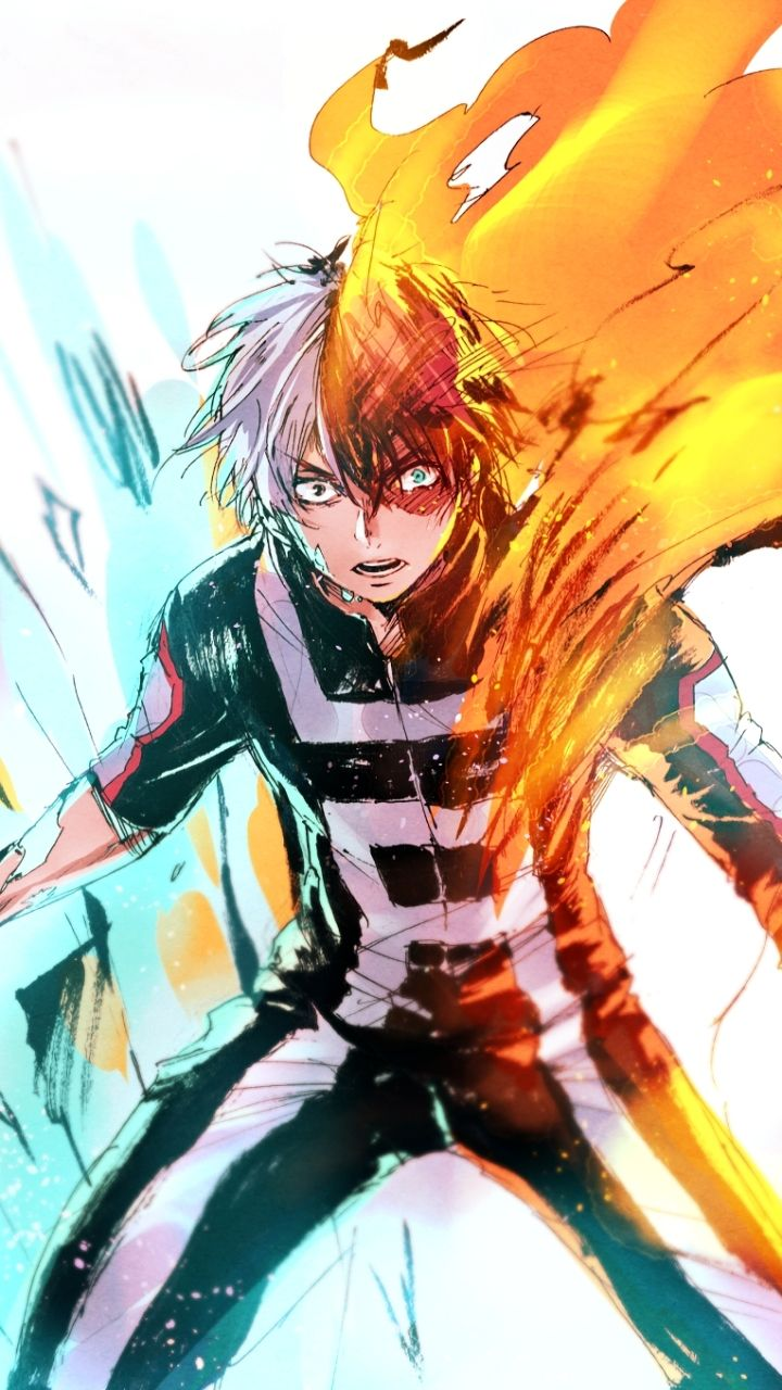 Anime My Hero Academia Shouto Todoroki 720x1280 Mobile Wallpaper