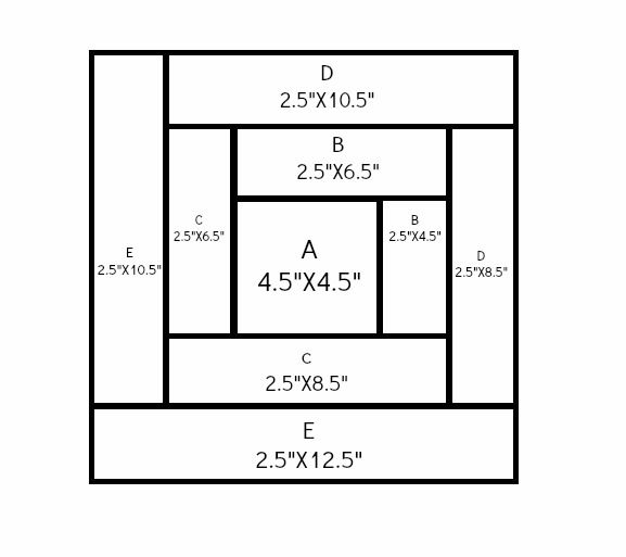 Log+Cabin+Quilt+Block | Log Cabin Quilt Block Tutorial