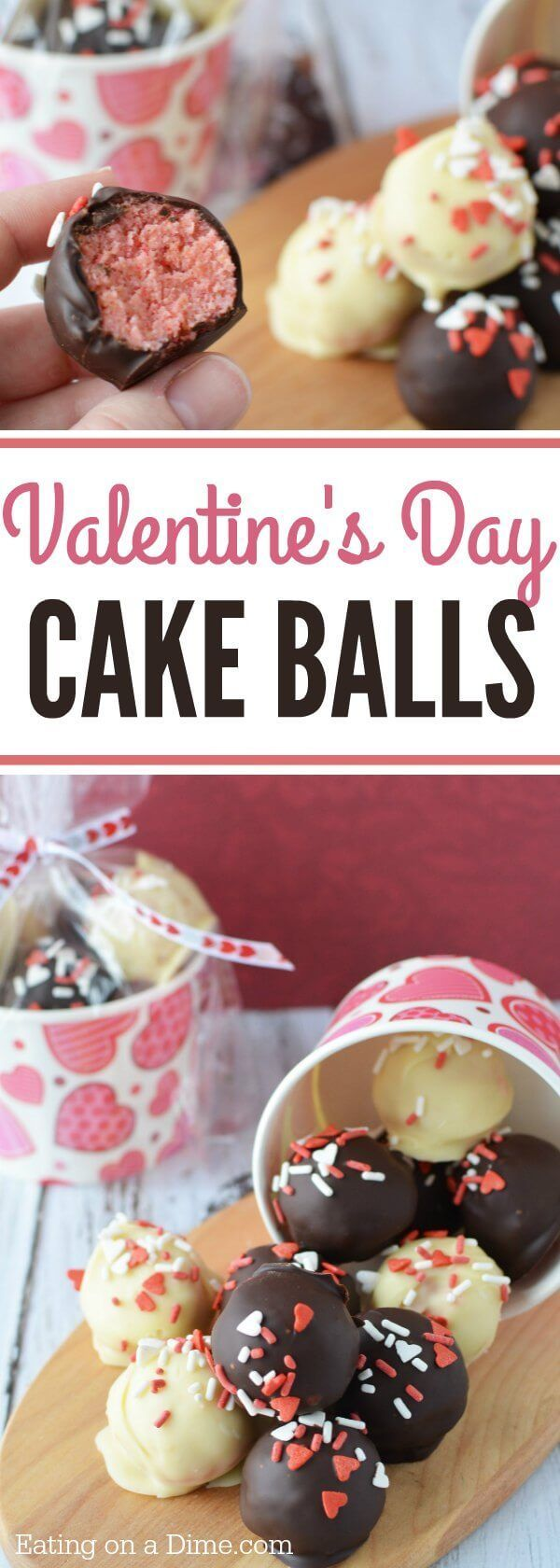 This easy cake ball recipe is perfect for Valentine's Day. You can also try the cake pop recipe. Valentine's Day Cake Balls Recipe is the perfect treat!