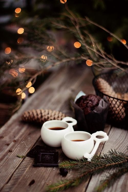 * c h r i s t m a s * Wintry coffee break, seasonal inspiration for caffeine & cake!