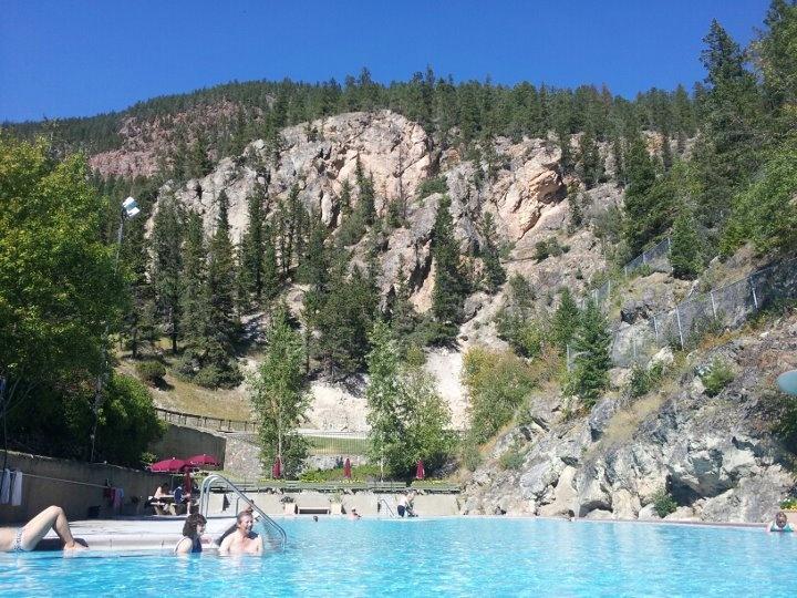 The hot springs pool in radium hot springs!