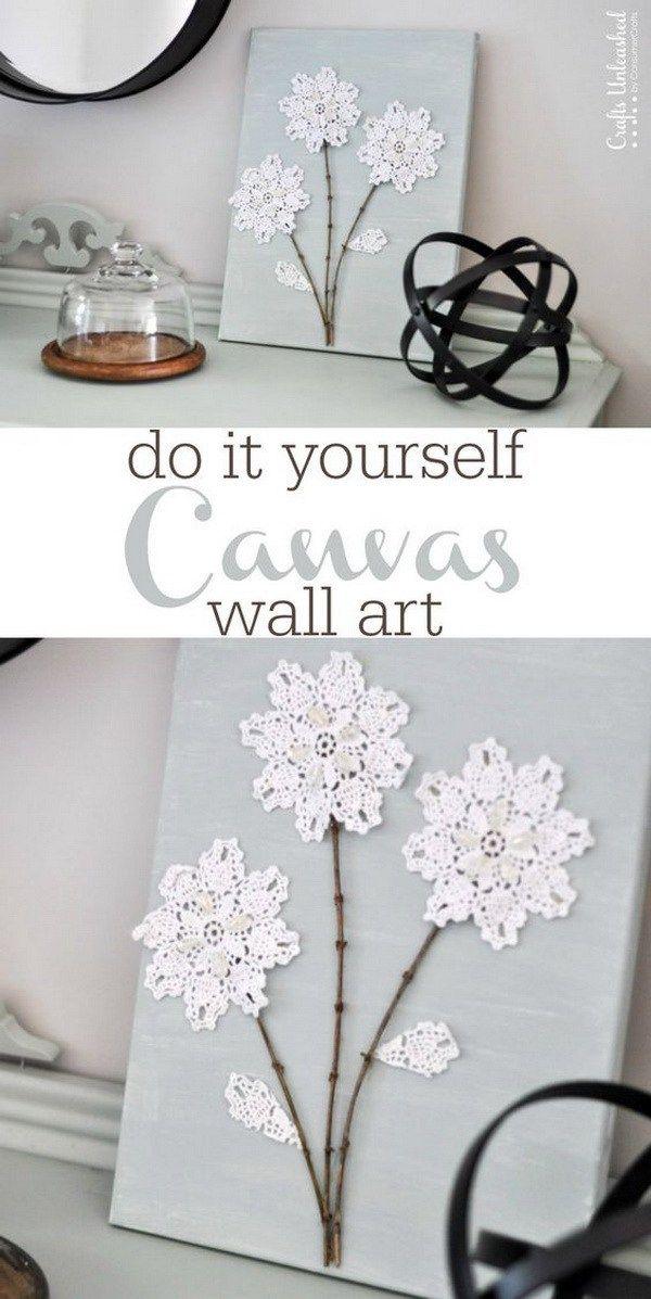 Best 25 canvas wall art ideas on pinterest diy canvas for Diy flower canvas wall art