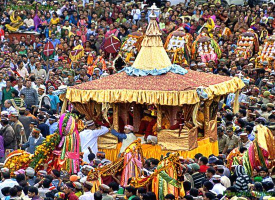 Dussehra in Kullu district of Himachal Pradesh is celebrated in Kullu Valley's Dhalpur maidan.
