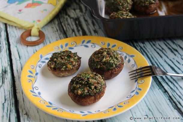 פטריות ממולאות (או הלהיט שלא ידע שהוא כזה) - Practi Food