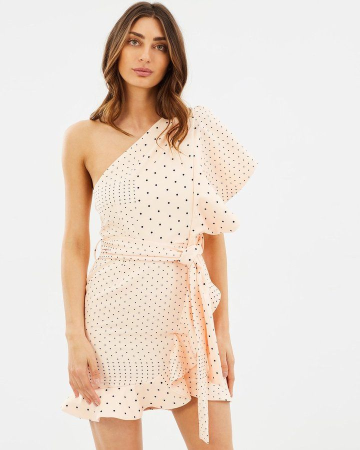 Pale pink summer party dress - Pasduchas Hot Flush Ruffle Dress