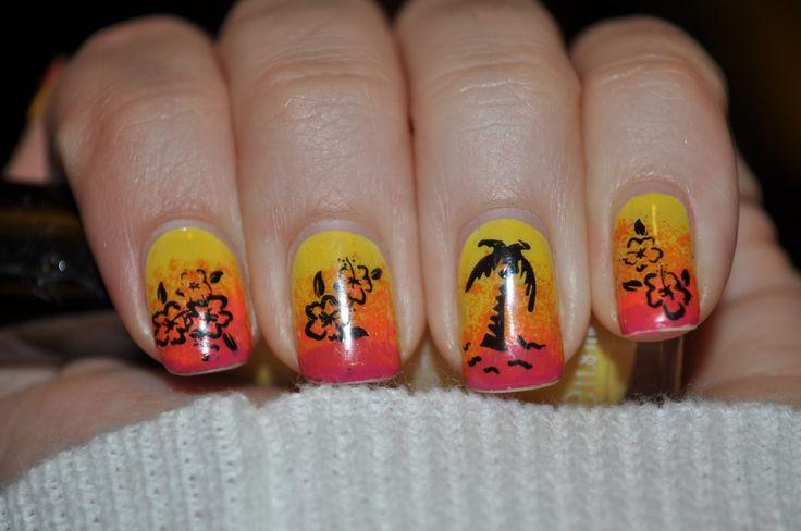 Caribbean Nail Designs | Jessica's Nail Art: Tropical Nails