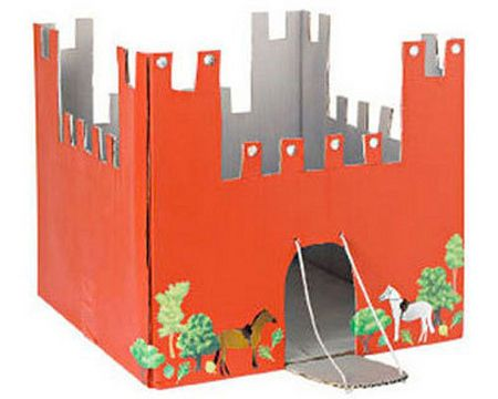 How to build a cardboard castle