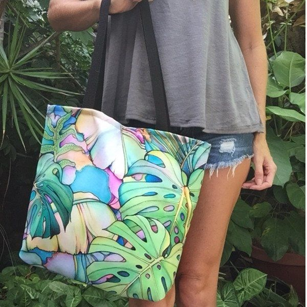 Island Oasis Tote by Colleen Wilcox