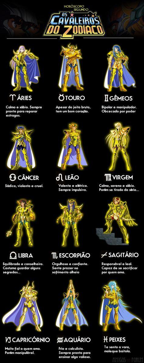 Quem nunca assistiu Os Cavaleiros do Zodiaco na infância e ficava se comparando ao cavaleiro do signo correspondente ao seu? Eu por exemplo, sou de Câncer, re