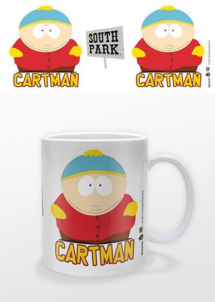 """South park Cartman - Mok """"I'm not fat, I'm big-boned!"""". De jongen die dit altijd zegt heeft ook een hekel aan hippies, dolfijnen en arme mensen: Eric Cartman."""