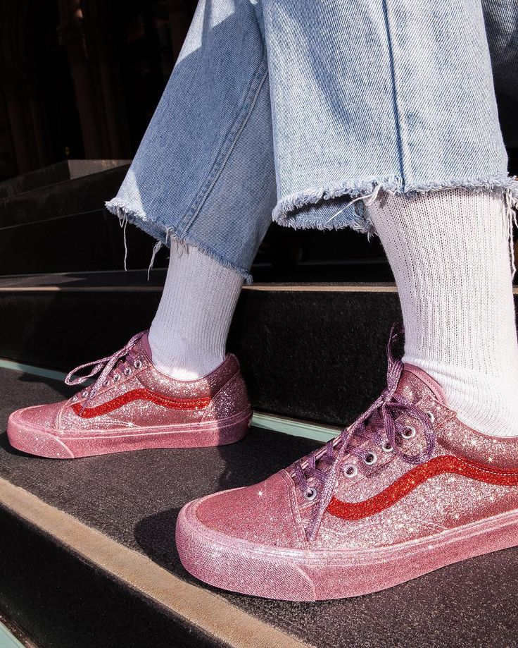 You're Gonna Go Wild for These Glitter-Coated Opening Ceremony x Vans Sneakers   Brit + Co