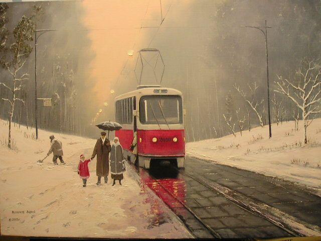 Репников Андрей. Зимний вечер в Покровское-Стрешнево.