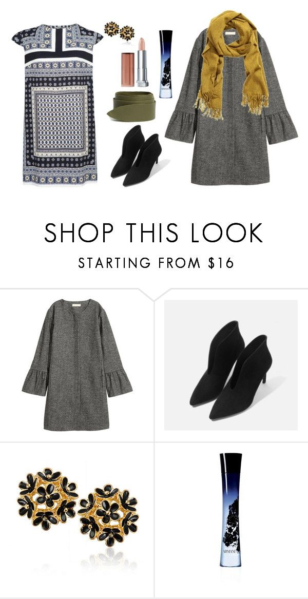"""""""Monday outfit"""" by alexandra-ela ❤ liked on Polyvore featuring Giorgio Armani and Maybelline"""