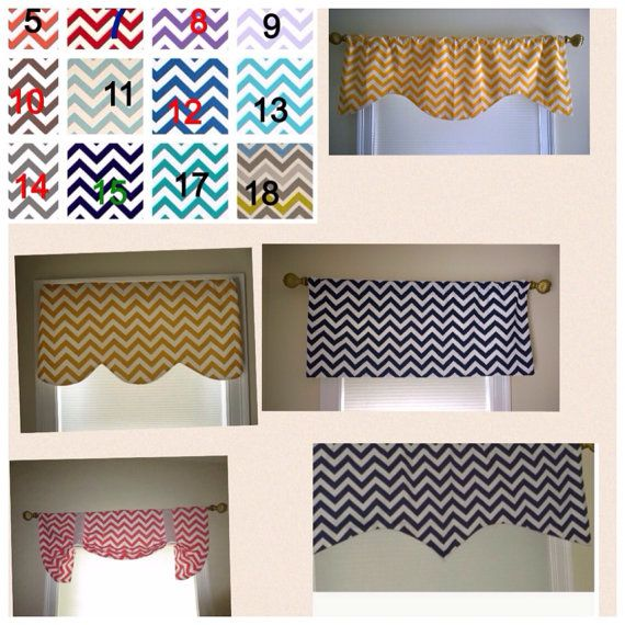 Rod pocket chevron valance window valance chevron by CoolRoomDecor