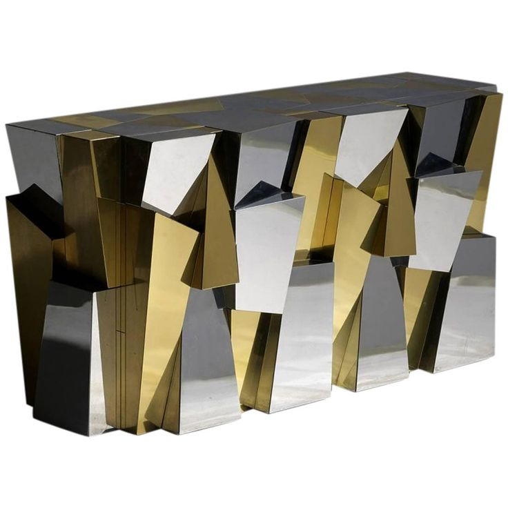 Rare Custom Faceted Console Table by Paul Evans for Directional ca.1970