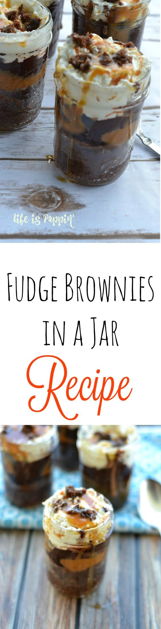 These fudge brownies in a jar are the perfect way to serve up a delicious dessert without spending a lot of time in the kitchen. With just one bite you will instantly fall in love with these fudge brownies in a jar. They are simple to make and you might already have the ingredients in your pantry. These fudge brownies are perfect to take to your next party for a dish to pass, or throw a batch together just because.