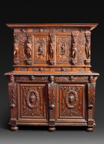 Exceptional Cabinet Renaissance Burgundy Lyon Region Mobilier Meuble Baroque Meuble De Style