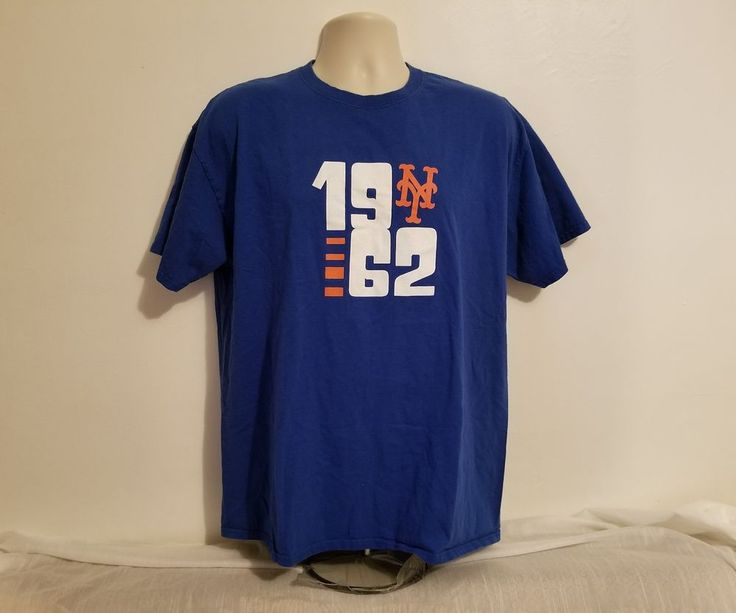 New York Mets 1962 Mens Blue XL T-Shirt SGA sponsored by 1-800 flowers #Jerzees #NewYorkMets