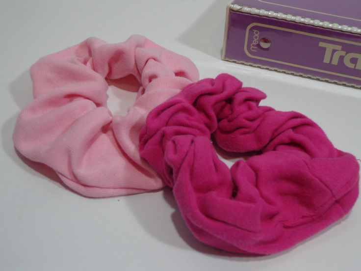 90s Vintage Pink Scrunchies Duo, Retro Fashion Elastic Hairbands from the 80s & 90s, Scrunchy Hairtie Set by PopWildlife on Etsy
