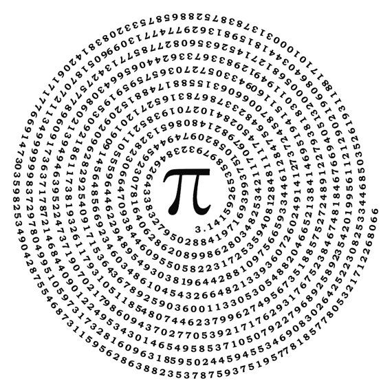 Irrational Number Pi Mathematical Wall Vinyl Pai Decal