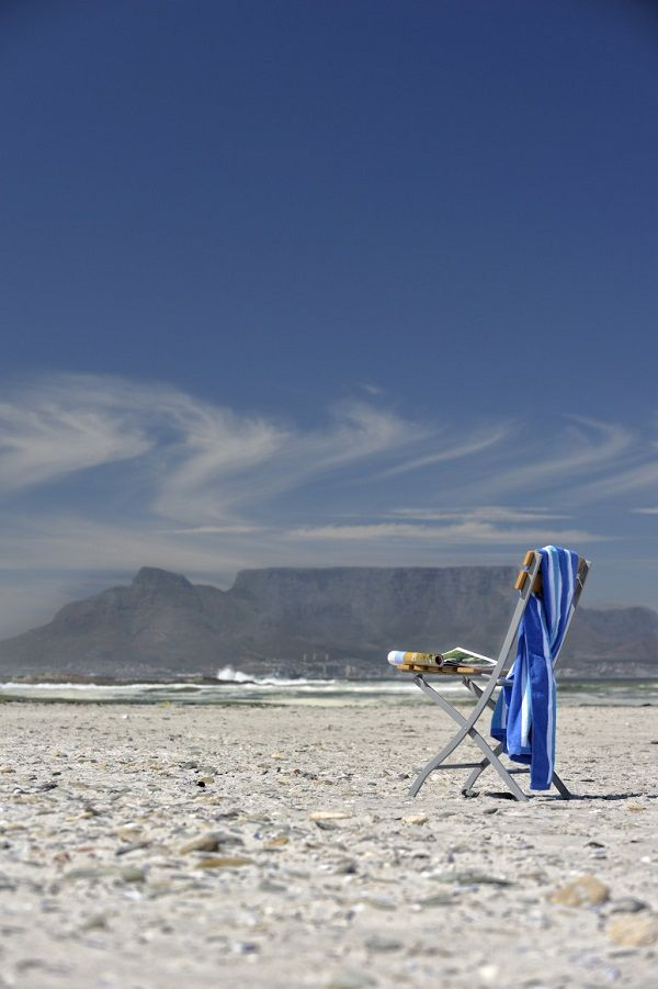 Beach and Table Mountain - Cape Town, South African