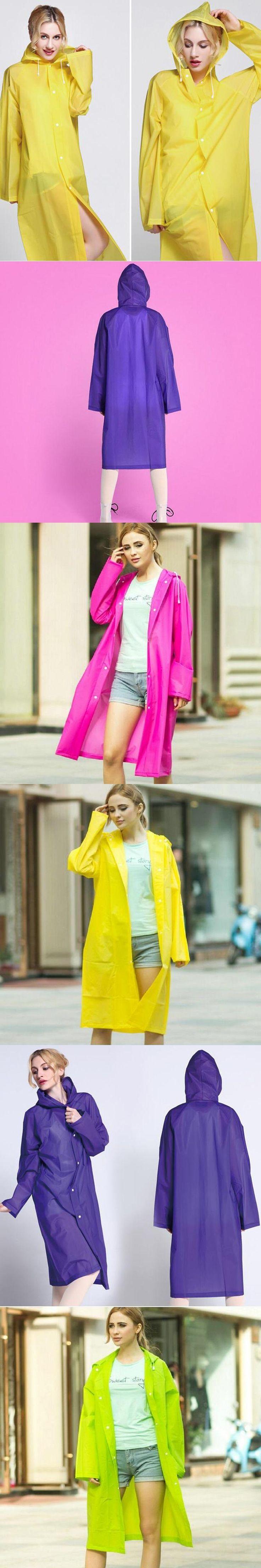 WINSTBROK Rain Jacket Women/Men 2017 Fashion Rain Coat Impermeable Environment Designer Rain Jackets Eva Ladies Long Raincoat