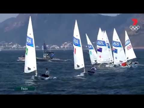 Australian Tom Burton Wins Laser Sailing Gold | Sailing | Olympic Games Rio 2016 | 7 Olympics - YouTube