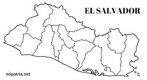 Resultado de imagen para mapa de el salvador con departamentos
