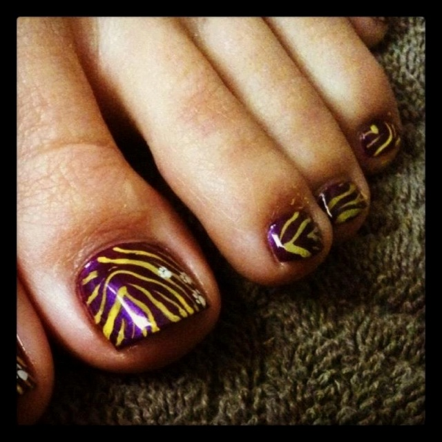 Toe Nail Salon Game For Fashion Girls Foot Nail Makeover: Toe, Tigers And Lsu
