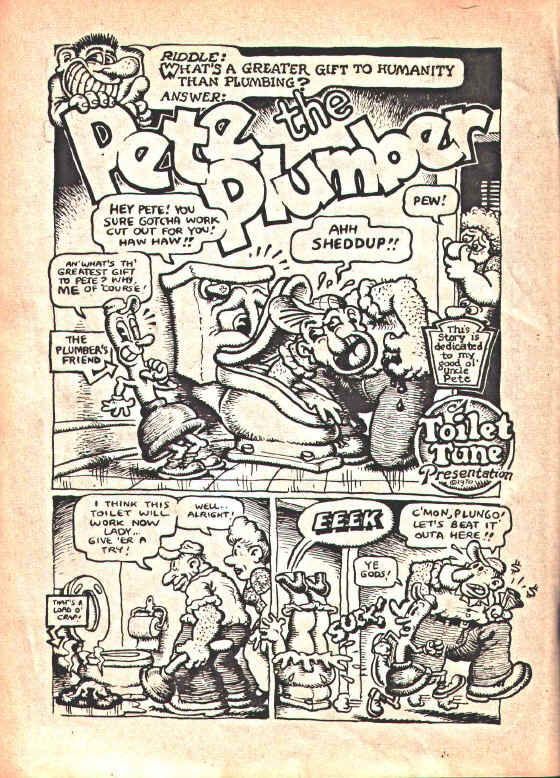 zap comics pete the plumber | Dr Steve Hopkins: aka 'The Plumber'