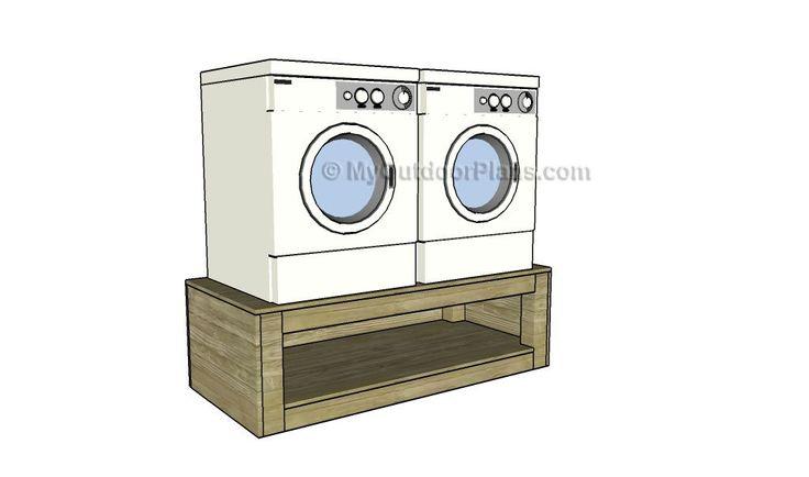 Washer dryer pedestal plans