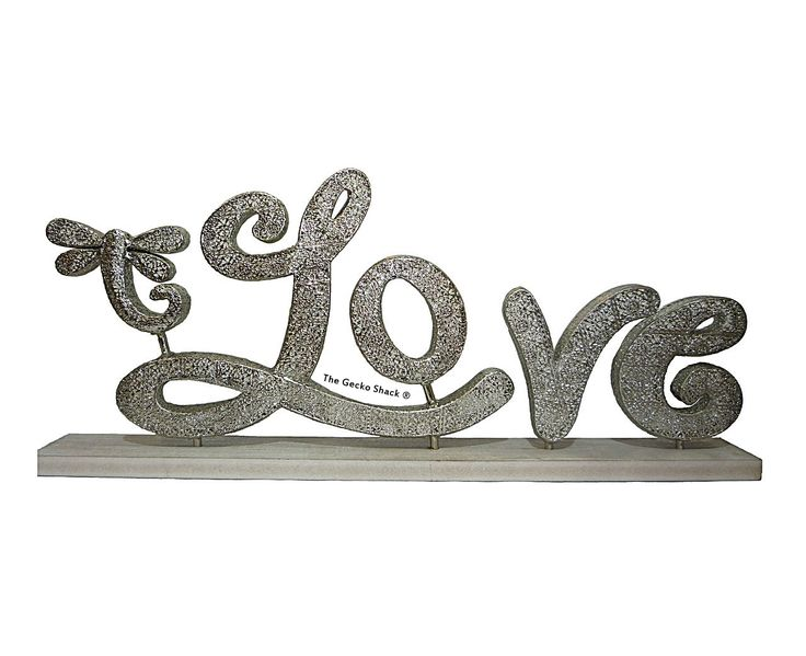 The Gecko Shack - Love w/ Dragonfly Silver Freestanding Positive Decor 90cm by Lisa Pollock, $119.95 (http://www.geckoshack.com.au/love-w-dragonfly-silver-freestanding-positive-decor-90cm-by-lisa-pollock/)
