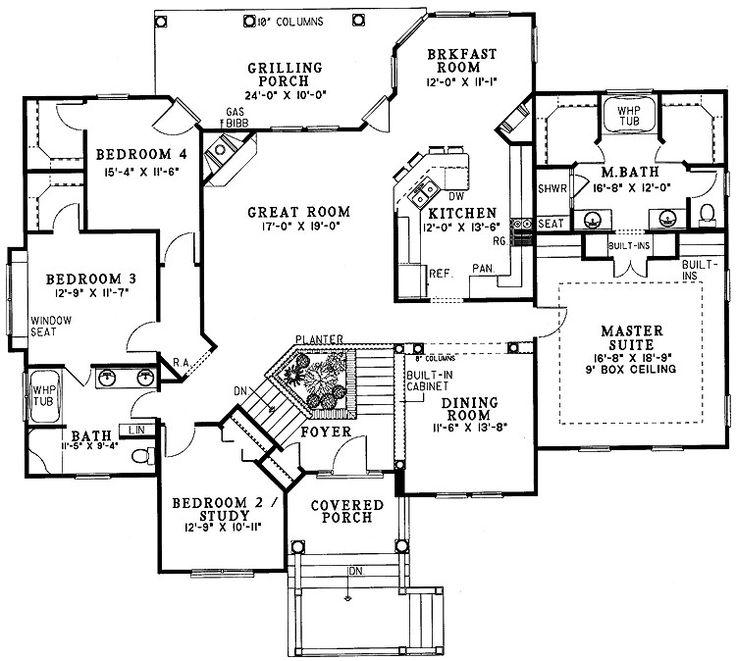 17 best images about split level floor plans on pinterest for Ranch split bedroom floor plans