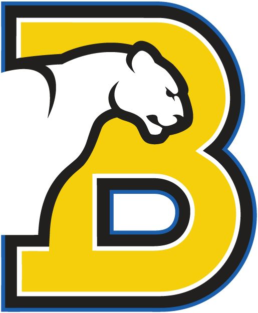Birmingham-Southern Panthers Primary Logo (1991) - Panther on a yellow B