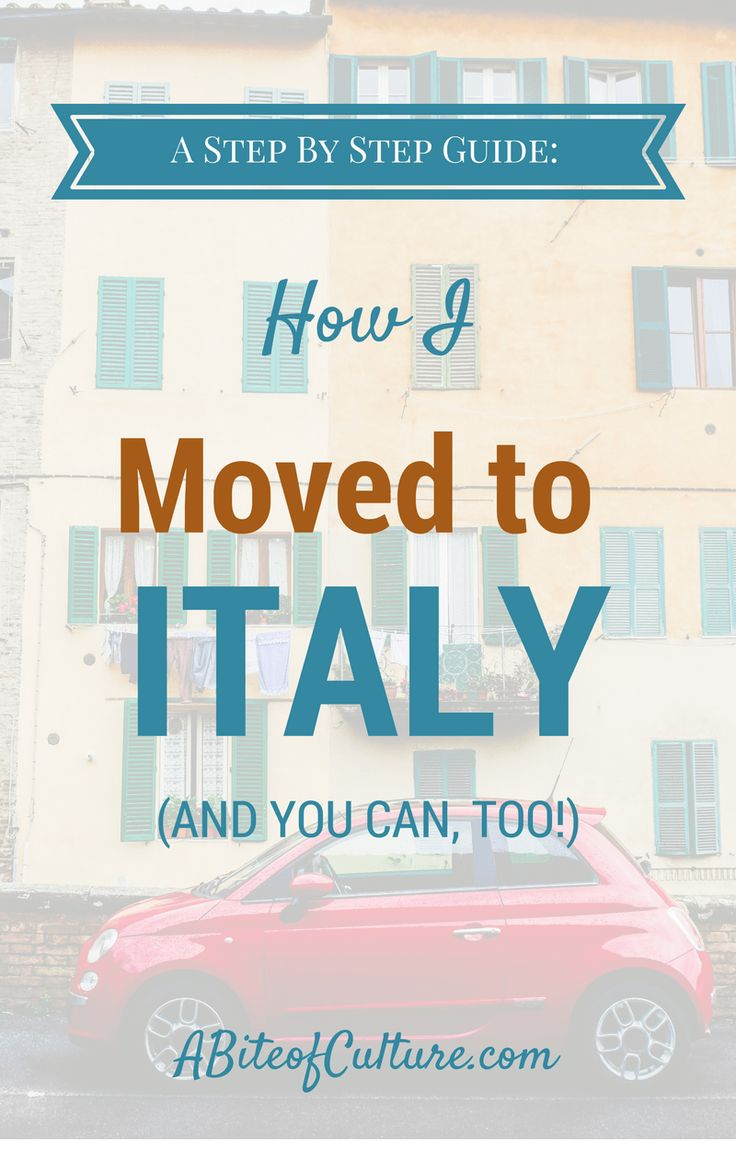 How I Moved to Italy (And You Can, Too!)- Becoming an expat in Italy requires a lot of paperwork. Here I've laid out everything I did and all the steps I took to move to Italy on a student visa.