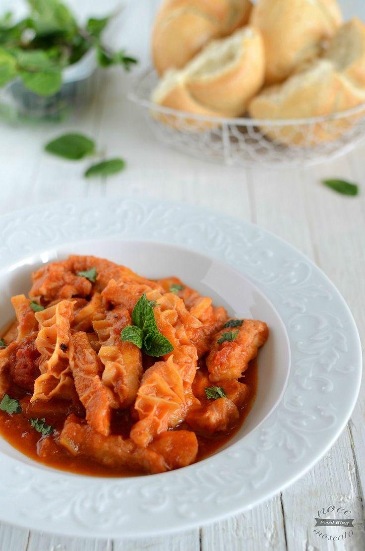 Trippa alla romana Tripe roman style food photography