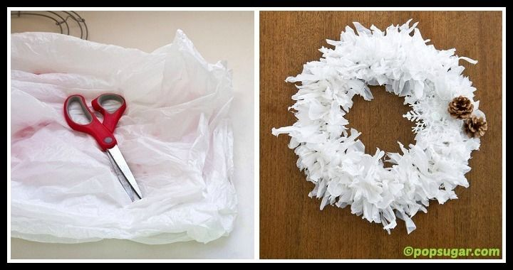 DIY Platic Bag Holiday Wreath Tutorial