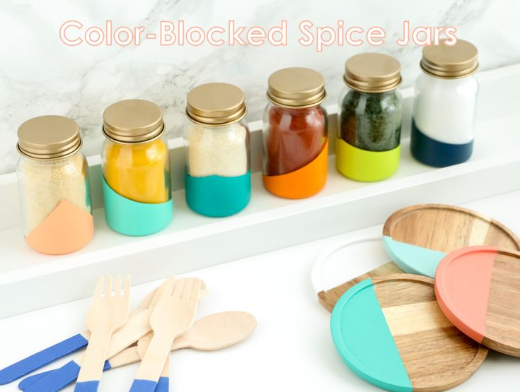A Kailo Chic Life: Craft It - Color-blocked Spice Jars