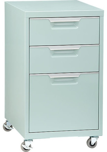 TPS Mint File Cabinet contemporary filing cabinets and carts