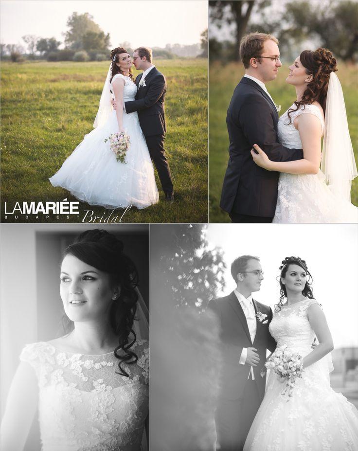 Krisztina bride by La Mariée Budapest bridal  #Ofira dress by Pronovias