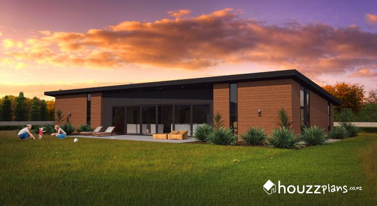 Breon - Modern Contemporary House Plan .... Browse all house plans here: www.houzzplans.co.nz