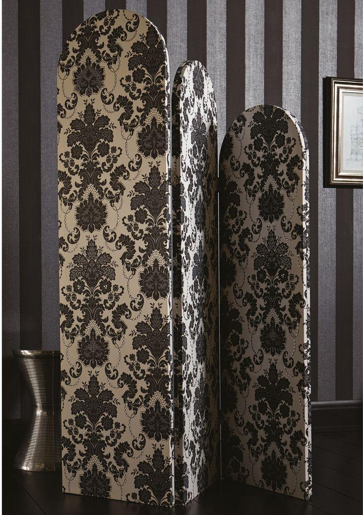 Vasari Dalmatian Room Divider With Diamante Detail