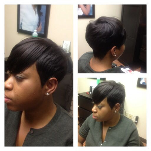 Short Pixie Sewin overthetophair.com short Hair Sewin, Natual Looking Sewin, low maintenance Hair