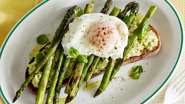 Asparagus, Avocado and Poached Egg Tartines | New World Supermarket