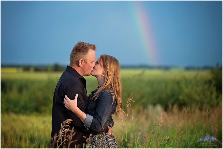 Engaged | Engagement | Rainbow | Storm Clouds | Lifestyle | Enjoy Today Photography