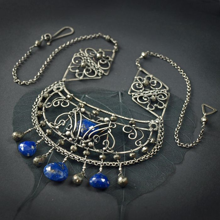 Erendira - lapis lazuli necklace by AMARENOstyle on deviantart.com