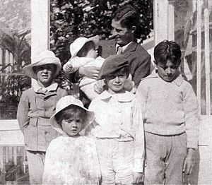 The Davies boys (the family only used the double surname Llewelyn Davies in formal contexts) were the sons of Arthur (1863–1907) and Sylvia Llewelyn Davies (1866–1910) (daughter of cartoonist/writer George du Maurier). They served as the inspiration for the characters of Peter Pan and the other boys of J. M. Barrie's Neverland works, and several of the main characters were named after them.