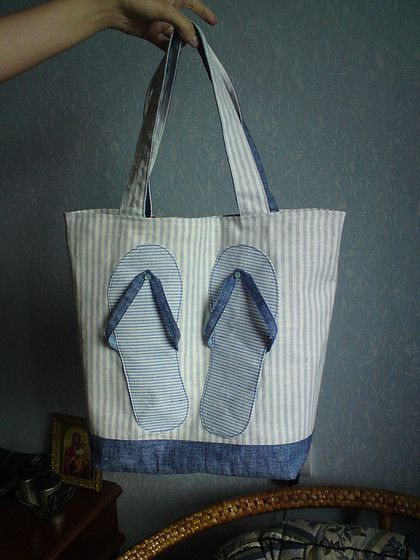 Cute way to personalize a beach bag.