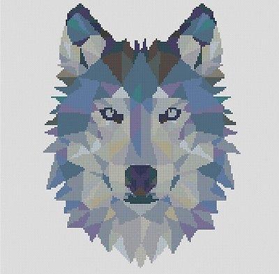Counted Cross Stitch Pattern or Kit, Animal, Geometric wolf, wolf cross stitch in Crafts, Cross Stitch, Cross Stitch Kits | eBay