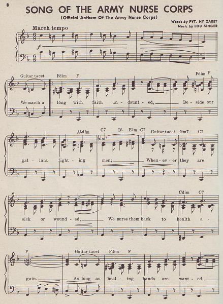 Song of the Army Nurse Corps